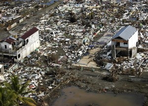 This is what the city looked like after the disaster.